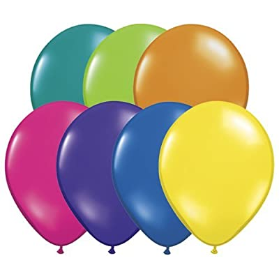 "Qualatex 11"" Round Jewel Balloons, Fantasy Assortment - Pack of 100: Toys & Games"