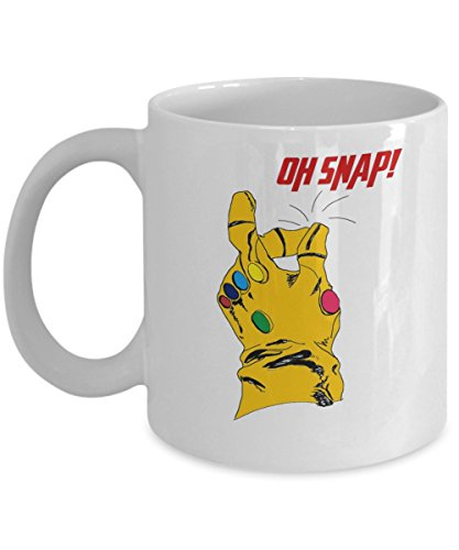 Thanos Infinity Gauntlet Oh Snap Best Gift Coffee Mugs  Gift Dad For Fathers Day Daddy  Gift Idea For Women And Mother  Fathers Day  Mothers Day  S