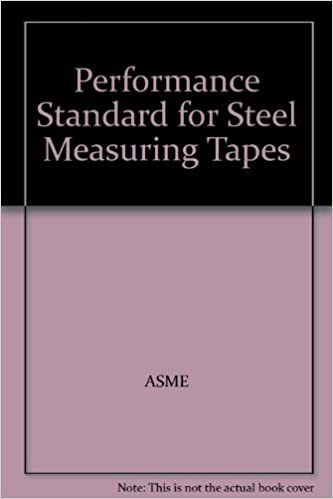 Book Performance Standard for Steel Measuring Tapes