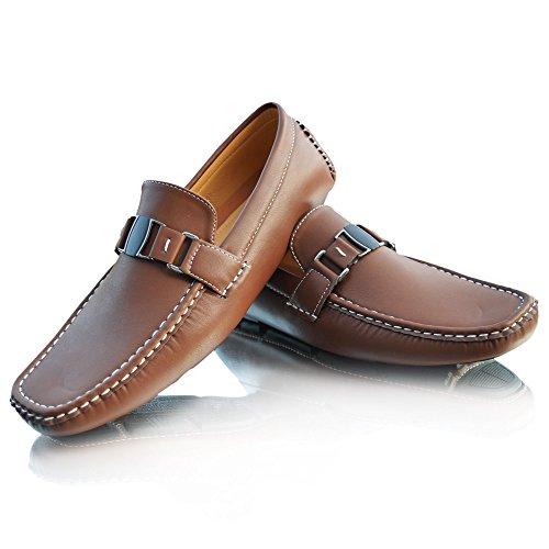 Xelay Botas Hombre marrón Sin Cordones S4TSq