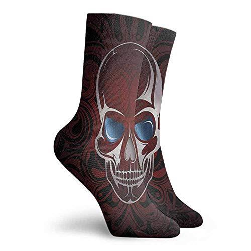 Patterned Socks Skull Deadly Skeleton Victorian Colorful Patterned Dress Socks