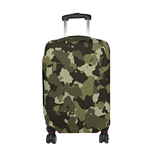Military Camo Camouflage Pattern Print Travel Luggage Protector Baggage Suitcase Cover Fits 18-20 Inch Luggage by super3Dprinted