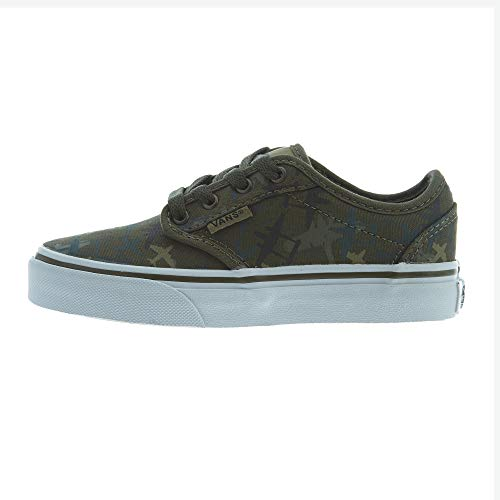 Vans Canvas-Airplane Camo Atwood Kids Shoe (Kids Us 4 , Green)