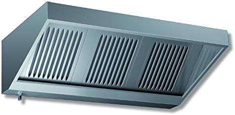 ASG Campana extractora fabricado en Alemania pared acero inoxidable Campana sin motor Dimensiones: B3000 x T700 x H450 mm: Amazon.es: Grandes electrodomésticos