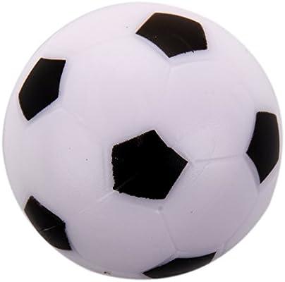 REFURBISHHOUSE Futbolin Pequeno de Futbol Bola de plastico Duro de Mesa Juguete de ninos Blanco Negro: Amazon.es: Juguetes y juegos