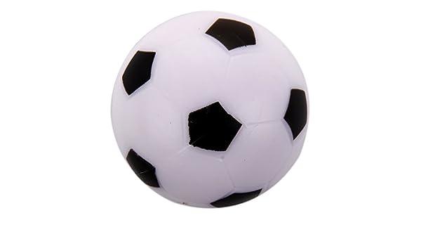 RETYLY Futbolin Pequeno de Futbol Bola de plastico Duro de Mesa Juguete de ninos Blanco Negro: Amazon.es: Juguetes y juegos