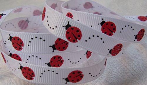 Grosgrain Ribbon - Little Ladybug Print - 3/8