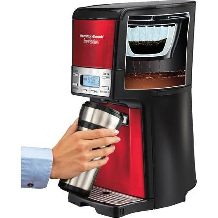 Hamilton Beach brewstation 12-cup cafetera dispensador, 48466-mx, Candy Apple rojo: Amazon.es: Hogar