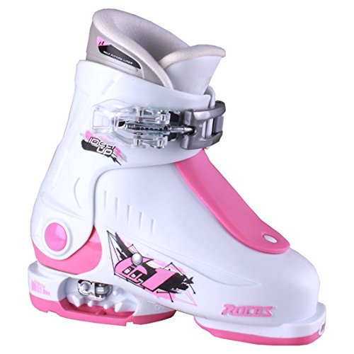 Roces 2016 Idea Adjustable White/Deep Pink Kids Ski Boots 16.0-18.5 by Roces