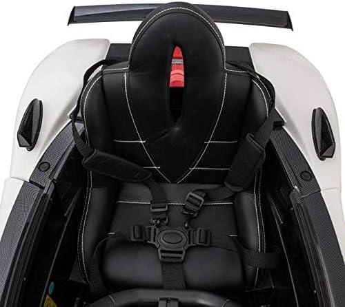 Auto per Bambini Macchina elettrica 12 Volt Pagani Zonda Bianca con Telecomando e Sedile Elettrico Regolabile