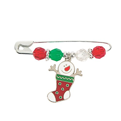 Charm Beaded Snowman (Snowman Stocking Beaded Charm Pin Craft Kit)