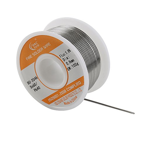 WYCTIN 0.8mm 100G 60/40 Rosin Core Tin Lead Roll Soldering Solder Wire - Tin Lead Solder