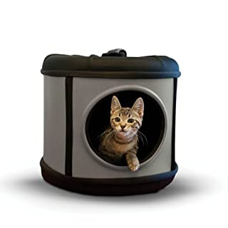 "K&H Pet Products Mod Capsule Pet Carrier & Shelter Gray/Black 17"" x 17"" x 15.5"""