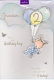 Grandson Age 2 Birthday Card