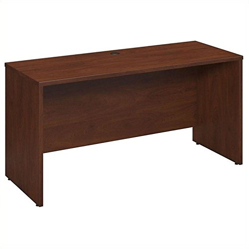 Bush Business Furniture Series C Elite 60W x 24D Desk Shell, Credenza, Return in Hansen Cherry