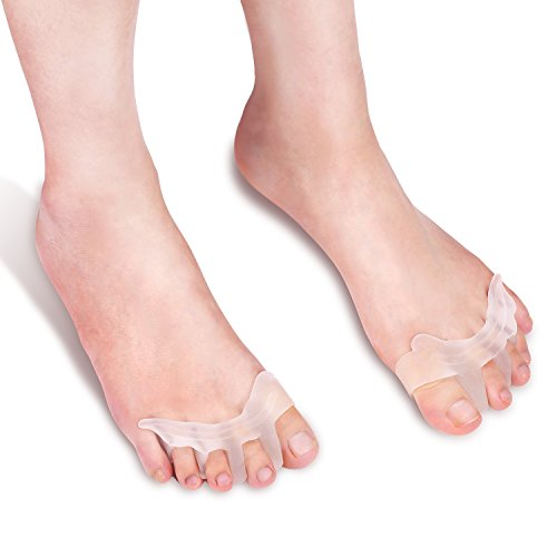 Gel Toe Stretchers and Separators for Pedicures and Relief from Bunions and Tired Achy Feet (Set of 2)