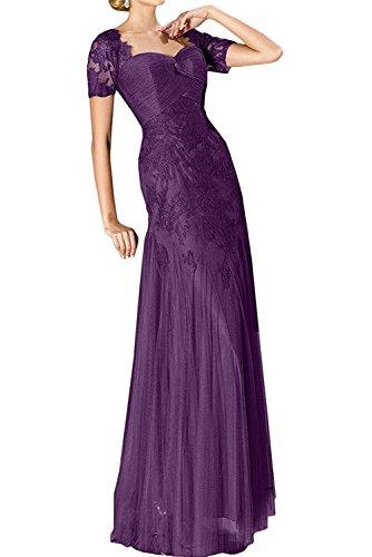 Damen Jugendweihe Braut Festlichkleider Abendkleider La Lila Kleider Lang Traube Marie Spitze Kleider Brautmutter qEwnfvRv0