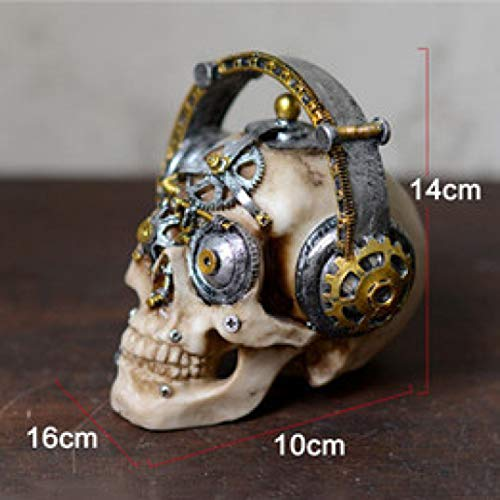 Price comparison product image Creative Resin Craft Statue Home Decoration Accessories Ornament Resin Mechanical Skull Fashion Bar Decoration