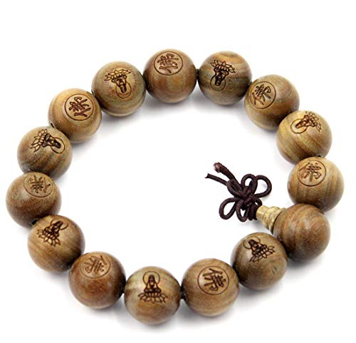 Large Beads 15mm Tibetan Buddhist Green Sandalwood Beads Prayer Mala