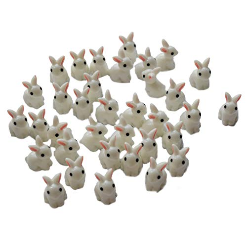 AMOBESTER Sime Charms Bunnies 35Psc Decorative Slime Beads For Arts Crafts Ornament