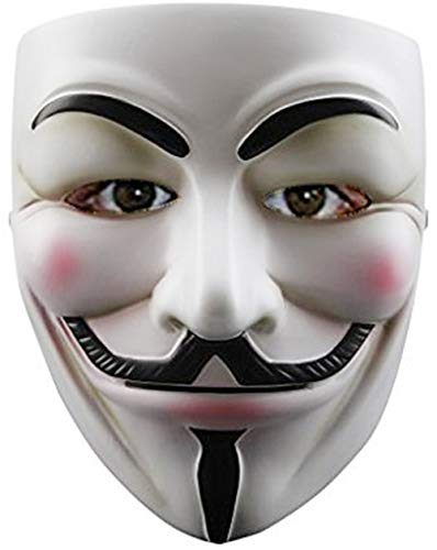 ZLLJH Guy Fawkes Halloween Costume V for Vendetta Mask Anonymous Fancy Cosplay -