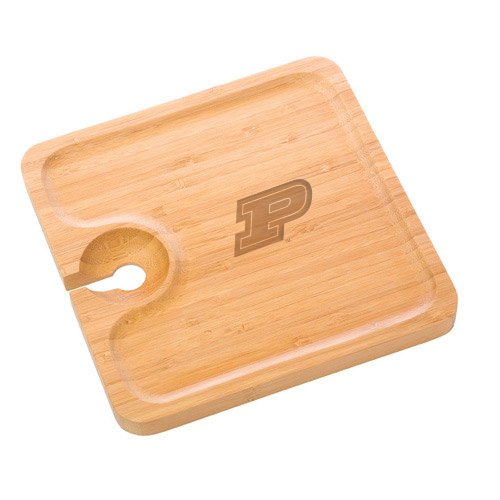 Purdue Bamboo Party Plate