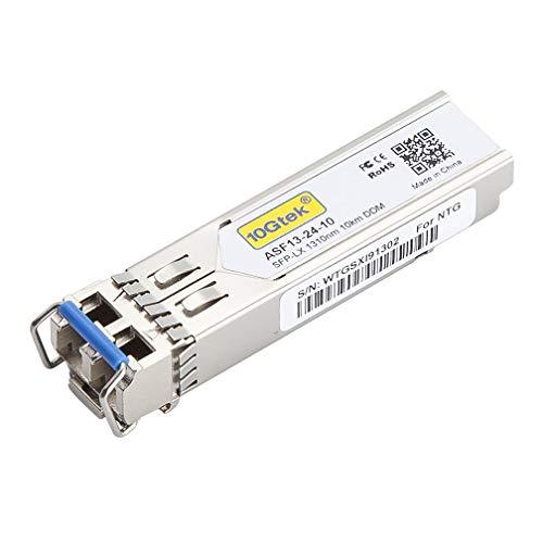 10Gtek for Cisco GLC-LH-SMD/GLC-LH-SM/SFP-GE-L, Gigabit SFP Transceiver, 1000Base-LX/LH, SMF, 1310nm, 10km by 10Gtek