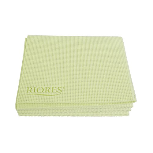 Foldable Yoga Mat by RIORES   Exercise Travel Pilates - Premium and Luxurious Colors - Green