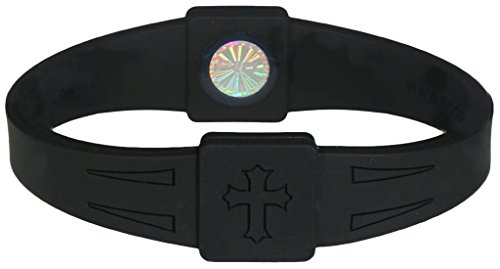 Rico's BioEnergy Band Black with Black Cross; Large