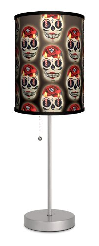 Lamp-In-A-Box SPS-VAR-SKCAN Various - Skull Candle Sport Silver Lamp