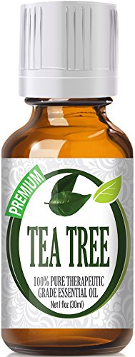 Healing Solutions Tea Tree 100% Pure Best Therapeutic Grade Essential Oil, 1 Fl Oz by Healing Solutions