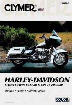 Clymer #M430-4 Repair Manual For Harley-Davidson FLH & - Twin Ignition 88 Cam