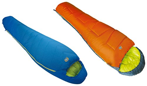 Alpinizmo High Peak USA One Summit 20 Sleeping Bag + One Krypton -10 Sleeping Bag Combo, Blue/Orange, Regular -