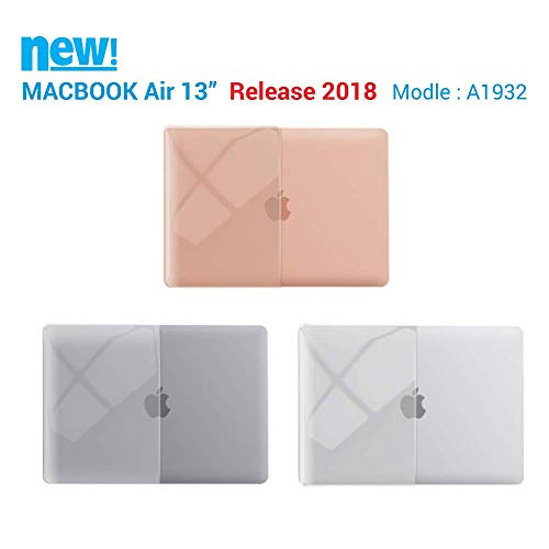 iBenzer MacBook Air 13 Inch Case 2018 Release New Version A1932, Soft Touch Hard Case Shell Cover for Apple MacBook Air 13 Retina with Touch ID, Crystal Clear, MMA-T13CYCL by IBENZER (Image #3)