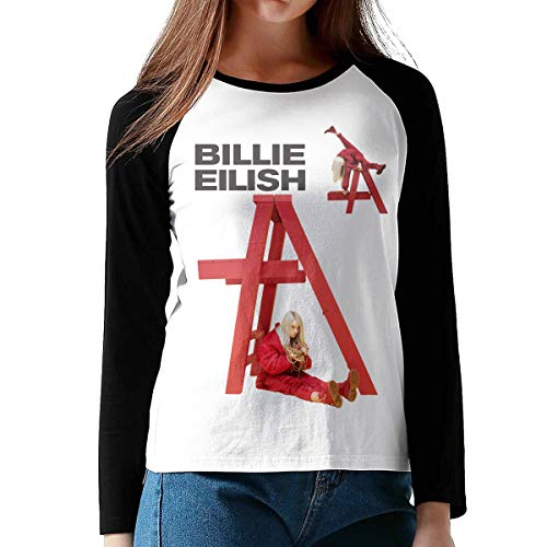 BE-AUTIFUL Billie Eilish Womens Cool Long Sleeve T-Shirt Black XL (Best Music To Fall Asleep To Playlist)