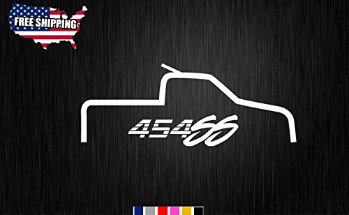 454Ss Decal Sticker 12  Chevrolet Chevy Truck 454 Ss Vinyl Graphic