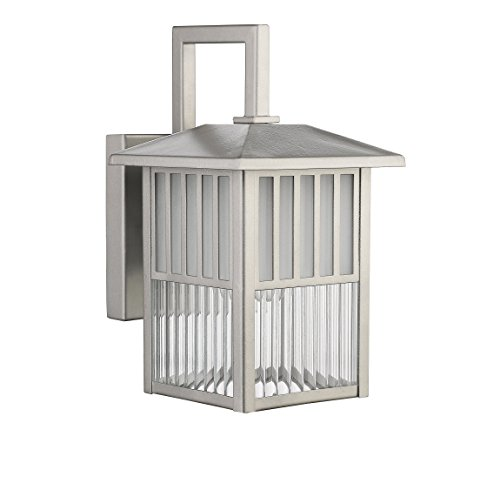 - Chloe Lighting CH22025PN11-OD1 Transitional Frisco, Transitional 1-light Painted Nickel Outdoor Wall Sconce, 10.75-Inch