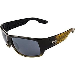 1203 Pugs Men's 100% UV A&B Lens Sunglasses with Diamon Plate Design (Gold and Black Frame, Black Lens)