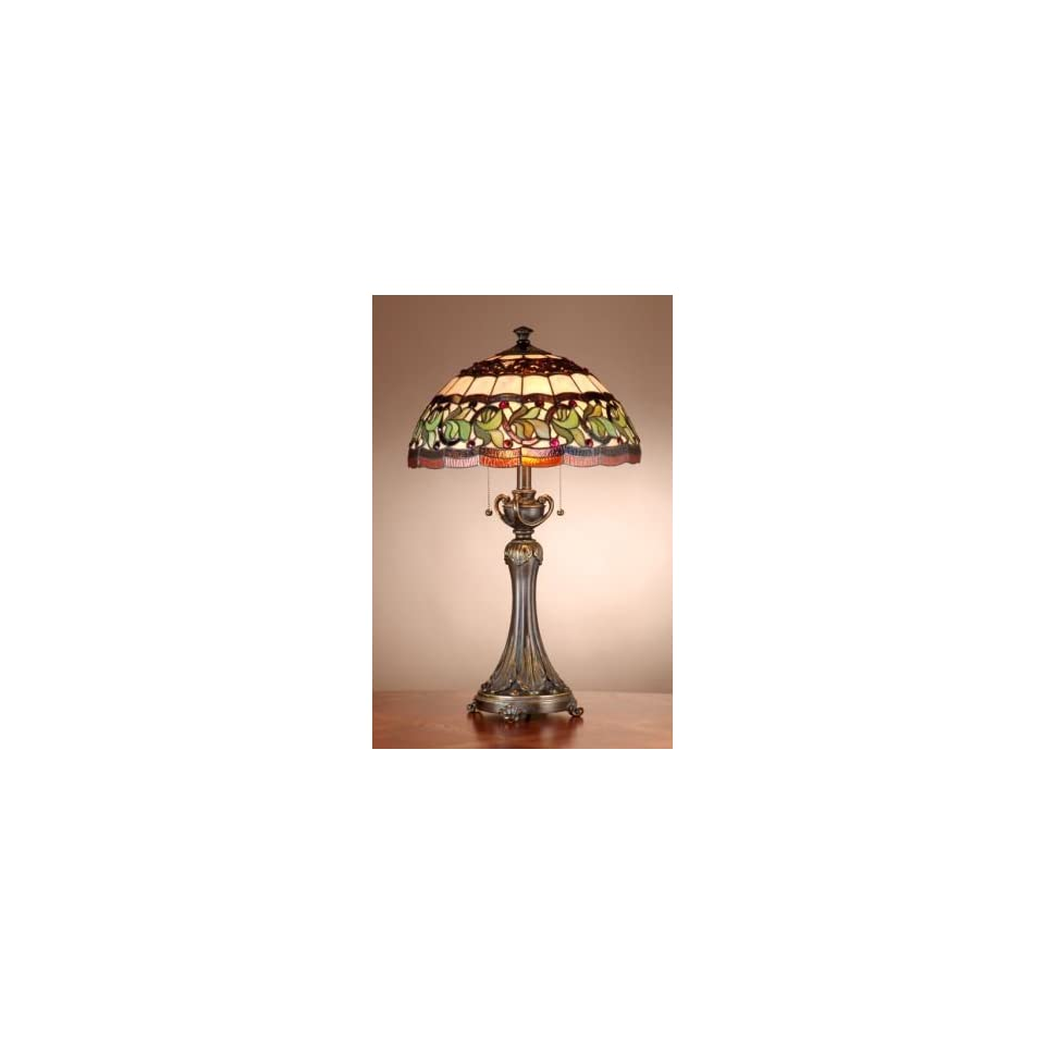 Dale Tiffany Aldridge Tiffany Table Lamp with Antique Bell Bronze Finish