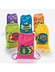 Canvas Spring Bug Backpacks (1 dozen) - Bulk [Toy]
