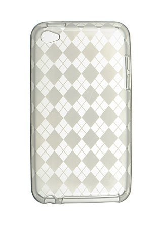 Premium TPU Flexi Soft Gel Skin for Apple iPod Touch 4th Generation, 4th Gen - Clear Checkers Argyle Print