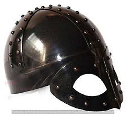 Chainmail Hub Medieval Viking Mask Knight Deluxe Helmet With Liner & Chin (Vikings Deluxe Replica Helmet)