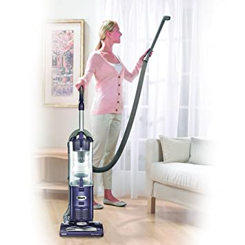 Shark Navigator Upright Corded Bagless Vacuum, Lightweight, Large Capacity for Carpet and Hard Floor Cleaning with Swivel Steering NV27PR , Purple