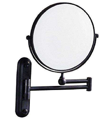 Black antique bathroom mirror telescopic mirror magnifying effect wall-mounted folding mirror by MQ&YH