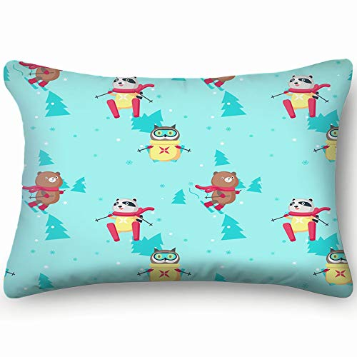 best bags Cute Animals Bear Wildlife Animal Skin Cool Super Soft and Luxury Pillow Cases Covers Sofa Bed Throw Pillow Cover with Envelope Closure 1624 Inch