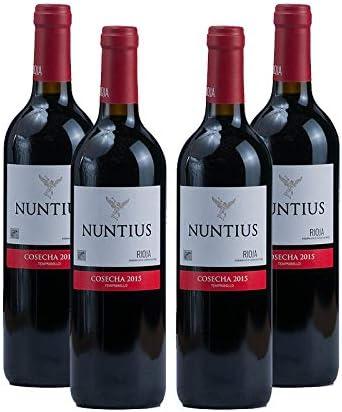 Vino tinto Nuntius Cosecha de 75 cl - D.O.Rioja - Bodegas Grupo Estevez (Pack de 4 botellas)