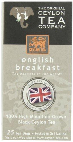 The Original Ceylon Tea Company, English Breakfast Tea, 25-Count Tea Bags (Pack of 6) - Ceylon Breakfast