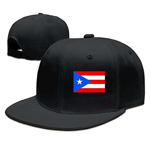 Cool Flag Of Puerto Rico Baseball Cap Black (Fashion Design Rico)