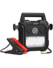 SUAOKI U29 Jump Starter 2000A for 12V Car Boat Truck with Intelligent Jumper Leads, 150 PSI Air Compressor, LED Torch, 60Wh Power Pack with Dual USB Ports and Cigarette Lighter Socket