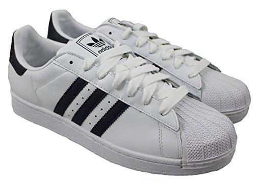 adidas Originals Superstar II Unisex-Erwachsene Sneakers Weiß (White/Collegiate Royal)